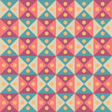 Vector modern seamless colorful geometry triangles dots pattern, color abstract Royalty Free Stock Photo