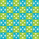 Vector modern seamless colorful geometry triangles dots pattern, color blue green abstract Stock Photography