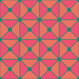 Vector modern seamless colorful geometry triangles dots pattern, color pink green abstract Stock Photos