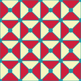 Vector modern seamless colorful geometry triangles dots pattern, color red white abstract Royalty Free Stock Photo