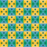 Vector modern seamless colorful geometry triangles dots pattern, color yellow green abstract Stock Photos