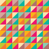 Vector modern seamless colorful geometry triangles pattern, color abstract Royalty Free Stock Images