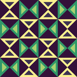 Vector modern seamless colorful geometry triangles pattern, color abstract Royalty Free Stock Image