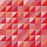 Vector modern seamless colorful geometry triangles pattern, color red abstract Royalty Free Stock Photography