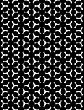 Vector modern seamless geometry christmas pattern snowflakes, black and white abstract Royalty Free Stock Images