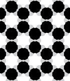 Vector modern seamless geometry pattern atom, black and white abstract Stock Images