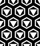 Vector modern seamless geometry pattern best, black and white abstract Stock Photography