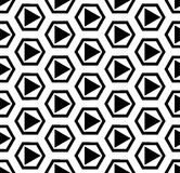 Vector modern seamless geometry pattern best, black and white abstract Stock Photos