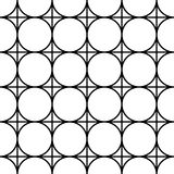 Vector modern seamless geometry pattern, black and white abstract Stock Image