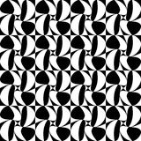 Vector modern seamless geometry pattern, black and white abstract. Geometric background, subtle pillow print, monochrome retro texture, hipster fashion design Vector Illustration