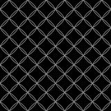 Vector modern seamless geometry pattern, black and white abstract Royalty Free Stock Photography