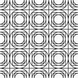 Vector modern seamless geometry pattern, black and white abstract Stock Photography