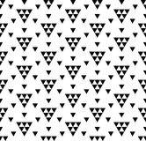 Vector modern seamless geometry pattern, black and white abstract Royalty Free Stock Photos