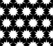 Vector modern seamless geometry pattern, black and white abstract Stock Photo