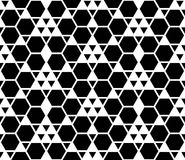 Vector modern seamless geometry pattern, black and white abstract Royalty Free Stock Image