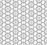 Vector modern seamless geometry pattern, black and white abstract Royalty Free Stock Images