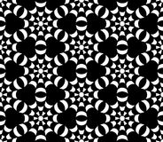 Vector modern seamless geometry pattern, black and white abstract. Geometric background, trendy print, monochrome retro texture, hipster fashion design Royalty Free Stock Image