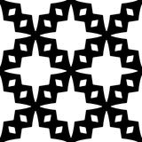 Black and white seamless and geometrical pattern vector illustration