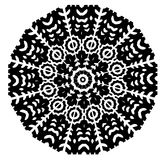 Black and white seamless and geometrical pattern royalty free stock photos