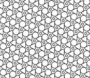 Vector modern seamless geometry pattern chaotic, black and white abstract Royalty Free Stock Photography