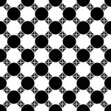 Vector modern seamless geometry pattern checkered, black and white abstract Royalty Free Stock Photography