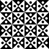 Vector modern seamless geometry pattern checkered, black and white abstract Stock Image