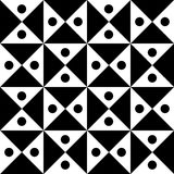 Vector modern seamless geometry pattern checkered, black and white abstract Royalty Free Stock Photo
