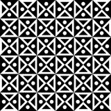 Vector modern seamless geometry pattern checkered, black and white abstract Royalty Free Stock Images