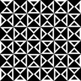 Vector modern seamless geometry pattern checkered, black and white abstract Royalty Free Stock Image