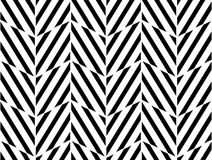 Vector modern seamless geometry pattern chevron, black and white abstract Stock Photography