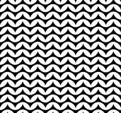 Vector modern seamless geometry pattern chevron, black and white abstract Royalty Free Stock Photos
