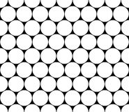 Vector modern seamless geometry pattern circles, black and white Stock Photography