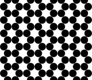 Vector modern seamless geometry pattern circles, black and white Stock Images