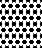 Vector modern seamless geometry pattern circles, black and white Stock Photo