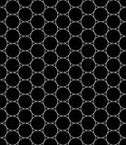Vector modern seamless geometry pattern circles, black and white Royalty Free Stock Photo