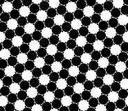 Vector modern seamless geometry pattern circles, black and white abstract Stock Image