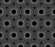 Vector modern seamless geometry pattern circles concentric, black and white abstract Stock Photo