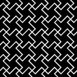 Vector modern seamless geometry pattern cross tile, black and white abstract Stock Photography