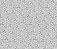 Vector modern seamless geometry pattern cubes, black and white abstract Royalty Free Stock Images