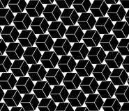 Vector modern seamless geometry pattern cubes, black and white abstract Royalty Free Stock Photo