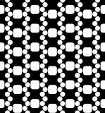Vector modern seamless geometry pattern dna, black and white abstract Royalty Free Stock Images