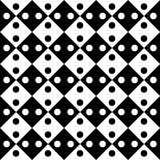 Vector modern seamless geometry pattern dots, black and white abstract Stock Photos