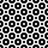 Vector modern seamless geometry pattern dots, black and white abstract Royalty Free Stock Photos