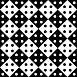 Vector modern seamless geometry pattern dots, black and white abstract Stock Image