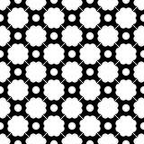 Vector modern seamless geometry pattern dots, black and white abstract Royalty Free Stock Photography