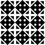 Vector modern seamless geometry pattern dots, black and white abstract Royalty Free Stock Photo