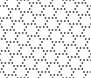 Vector modern seamless geometry pattern dots, black and white abstract Stock Images