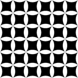 Vector modern seamless geometry pattern floral, black and white abstract Royalty Free Stock Photos