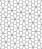 Vector modern seamless geometry pattern flower Royalty Free Stock Photography
