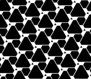 Vector modern seamless geometry pattern futuristic, black and white abstract Royalty Free Stock Images